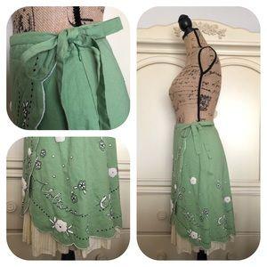 """Anthropologie Skirts - Anthropologie Odille Wrap """"Italia Skirt"""" Rare! NWT"""